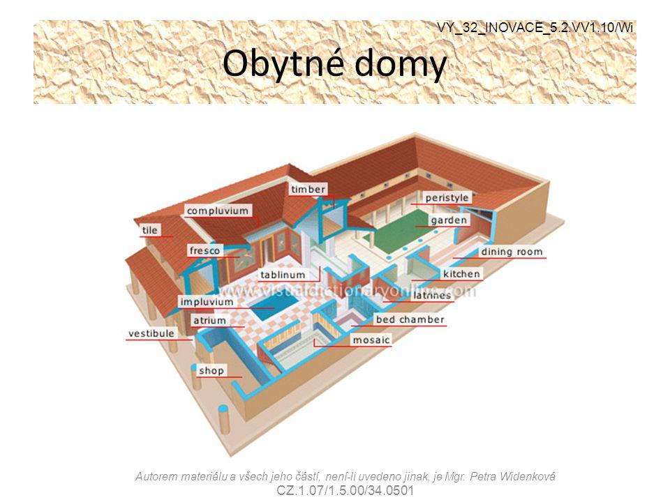Obytné domy VY_32_INOVACE_5.2.VV1.10/Wi Autorem materiálu a všech jeho částí, není-li uvedeno jinak, je Mgr. Petra Widenková CZ.1.07/1.5.00/34.0501