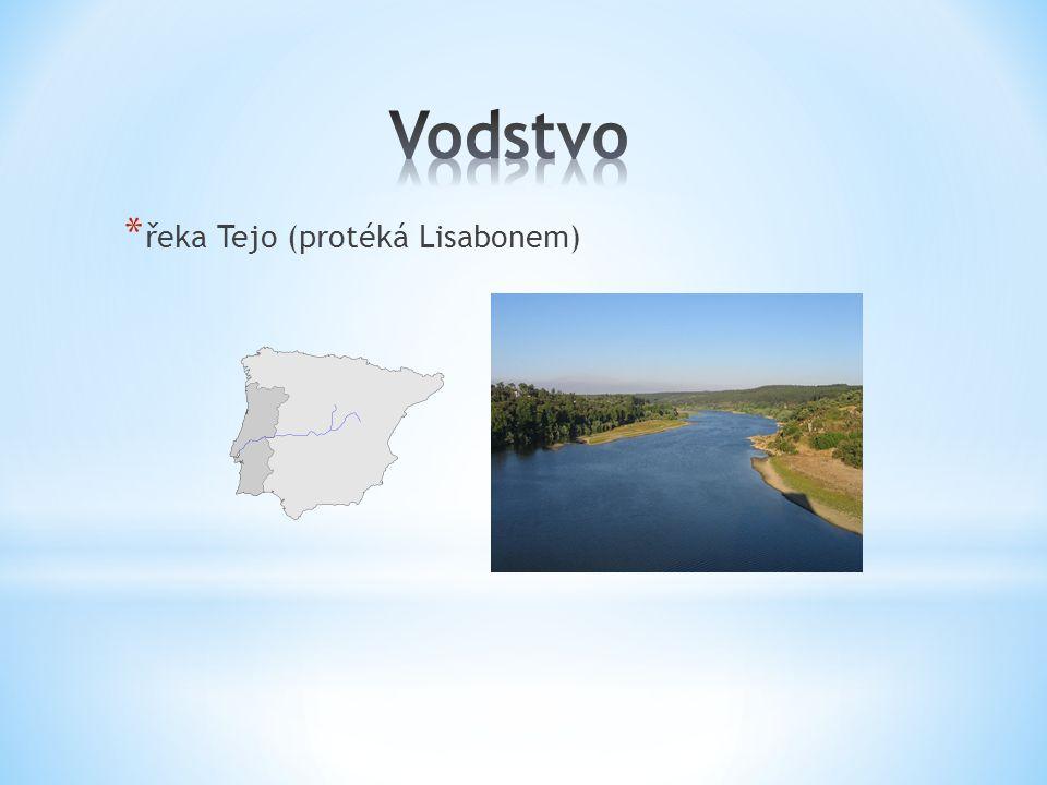 * řeka Tejo (protéká Lisabonem)
