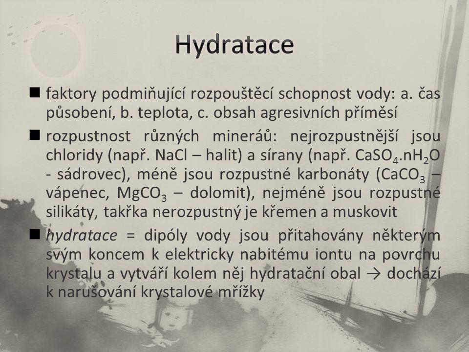 faktory podmiňující rozpouštěcí schopnost vody: a.