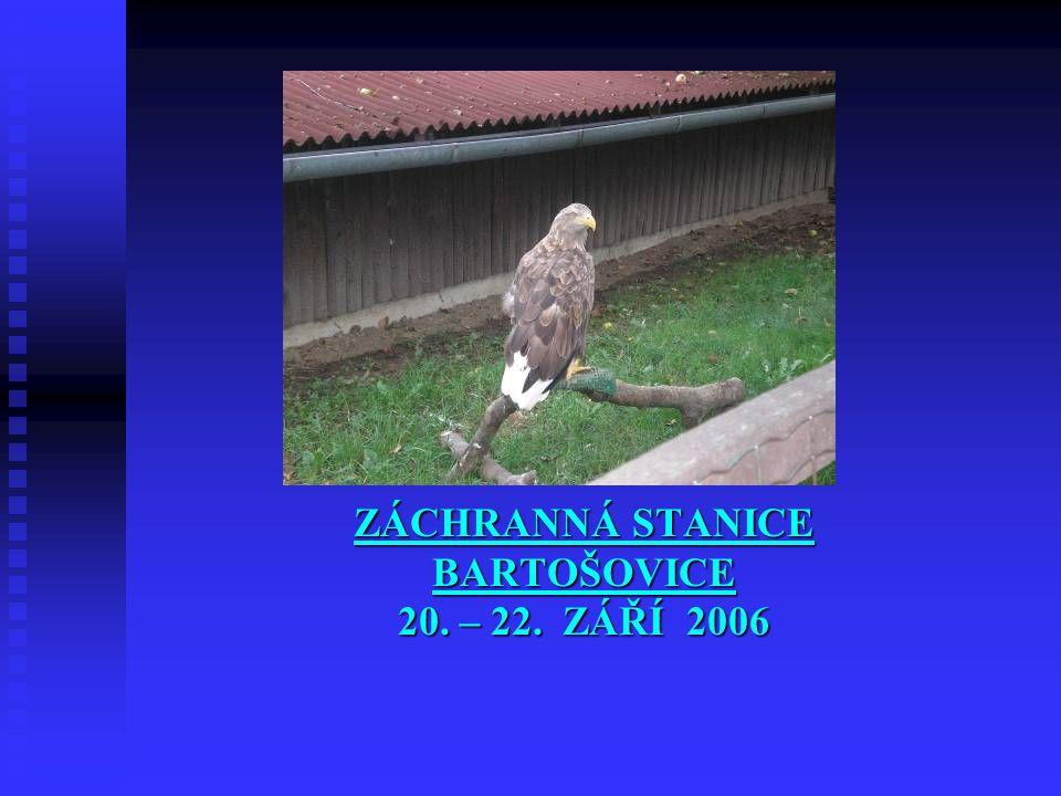 ZÁCHRANNÁ STANICE BARTOŠOVICE 20. – 22. ZÁŘÍ 2006