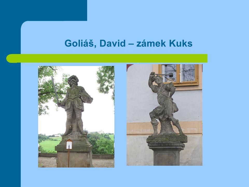 Goliáš, David – zámek Kuks