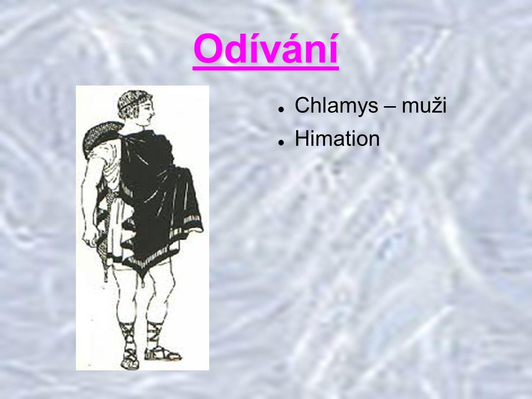 Odívání Chlamys – muži Himation