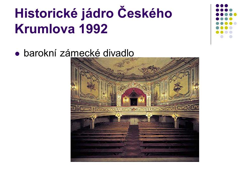 barokní zámecké divadlo