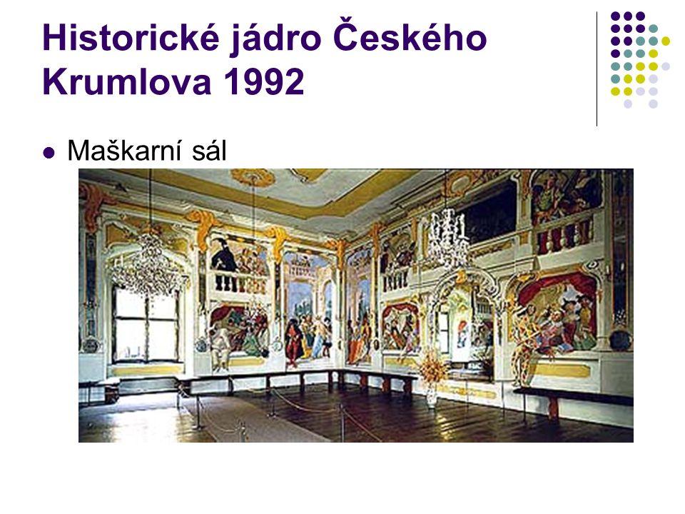 Historické jádro Českého Krumlova 1992 Maškarní sál