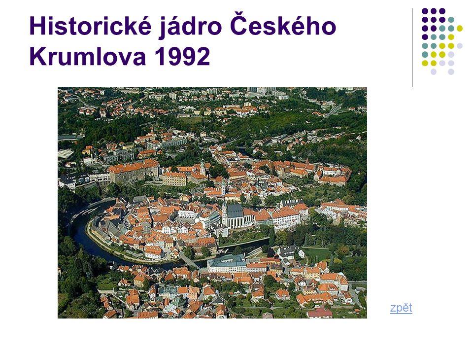 Historické jádro Českého Krumlova 1992 zpět