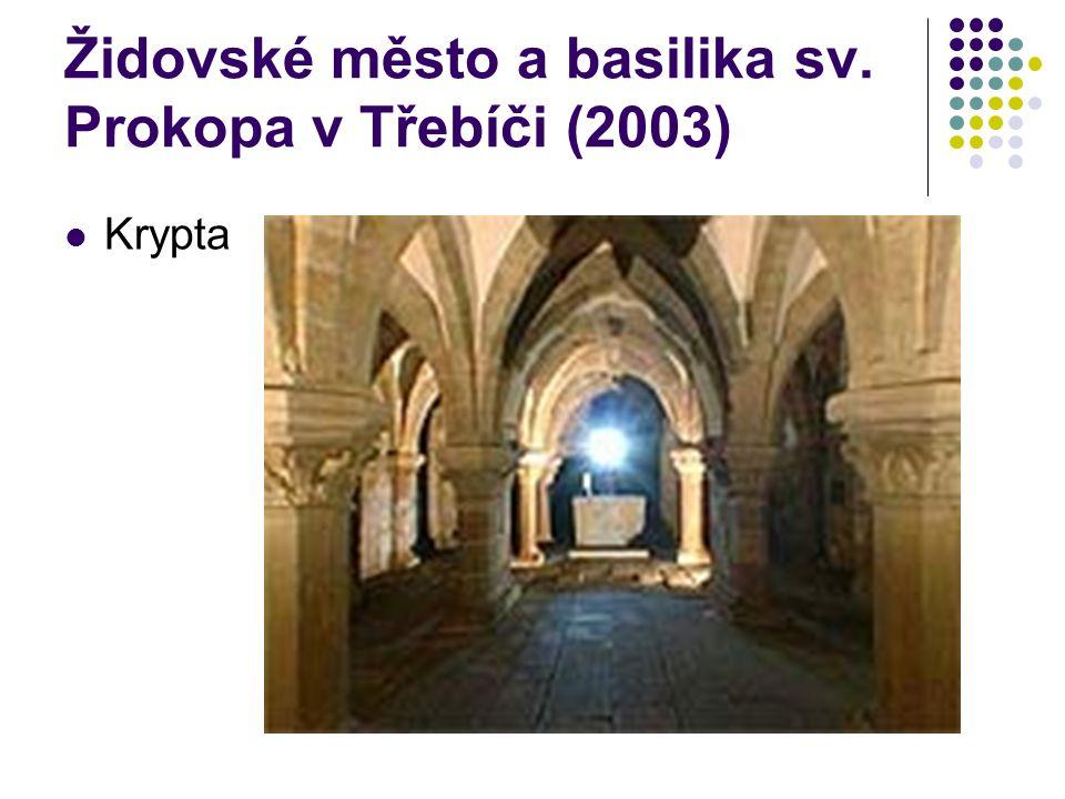 Židovské město a basilika sv. Prokopa v Třebíči (2003) Krypta