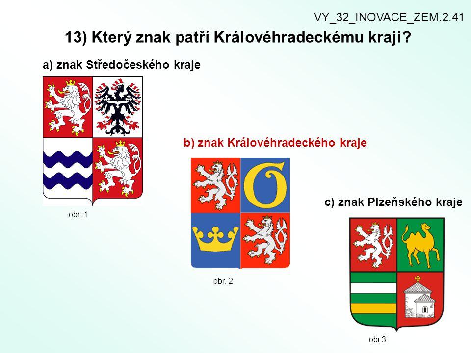 13) Který znak patří Královéhradeckému kraji.