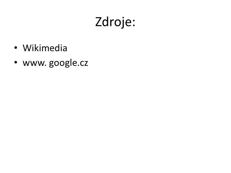 Zdroje: Wikimedia www. google.cz