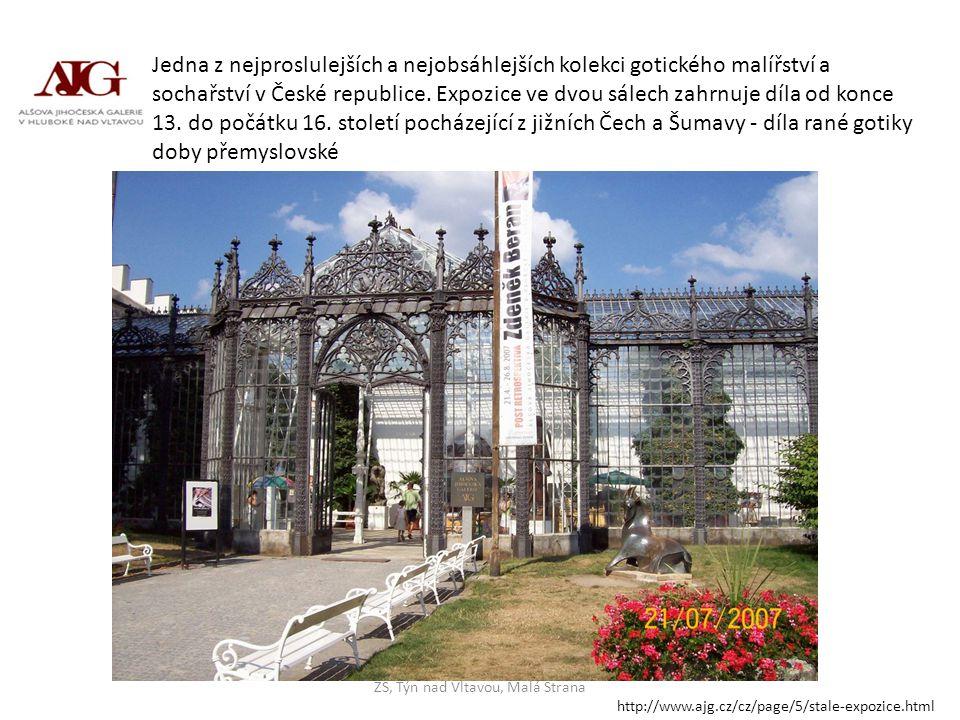 Jedna z nejproslulejších a nejobsáhlejších kolekci gotického malířství a sochařství v České republice. Expozice ve dvou sálech zahrnuje díla od konce