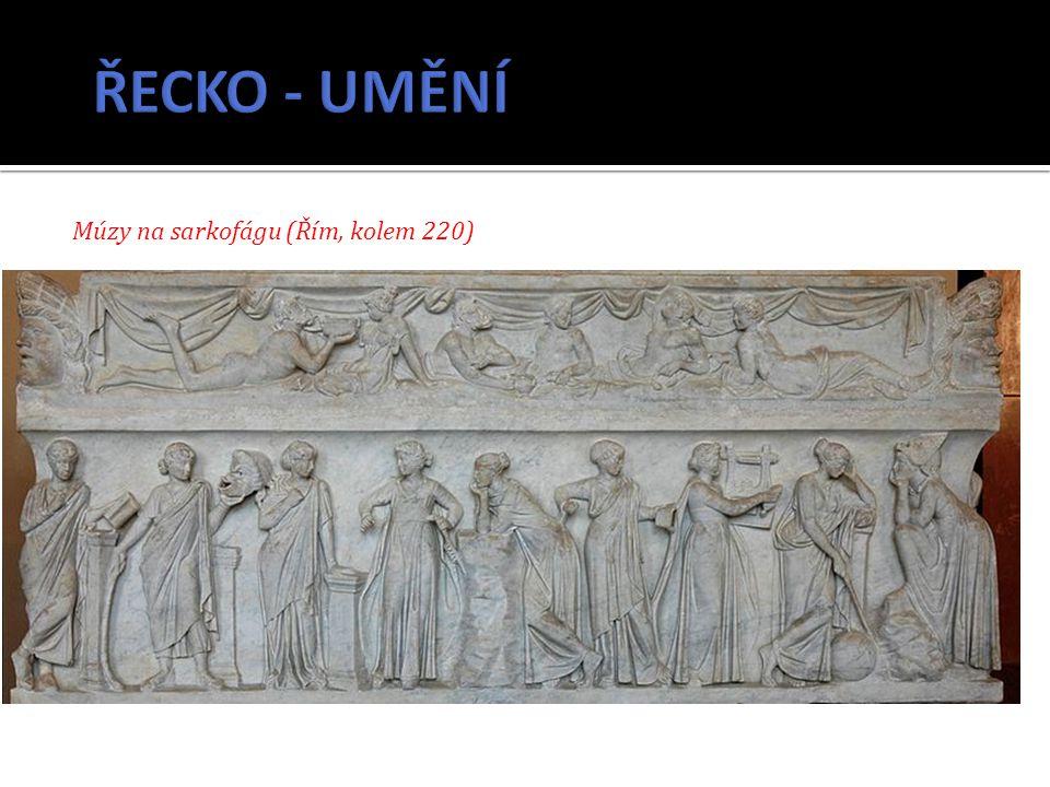 Múzy na sarkofágu (Řím, kolem 220)