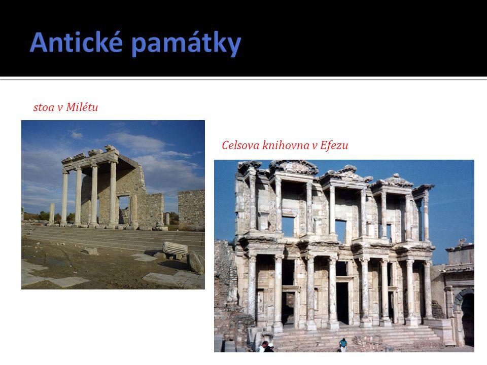 stoa v Milétu Celsova knihovna v Efezu