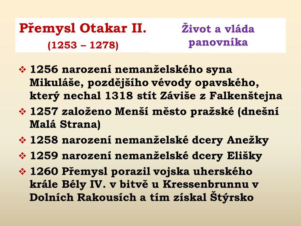 Obr. 2: Přemysl Otakar jako moravský markrabě