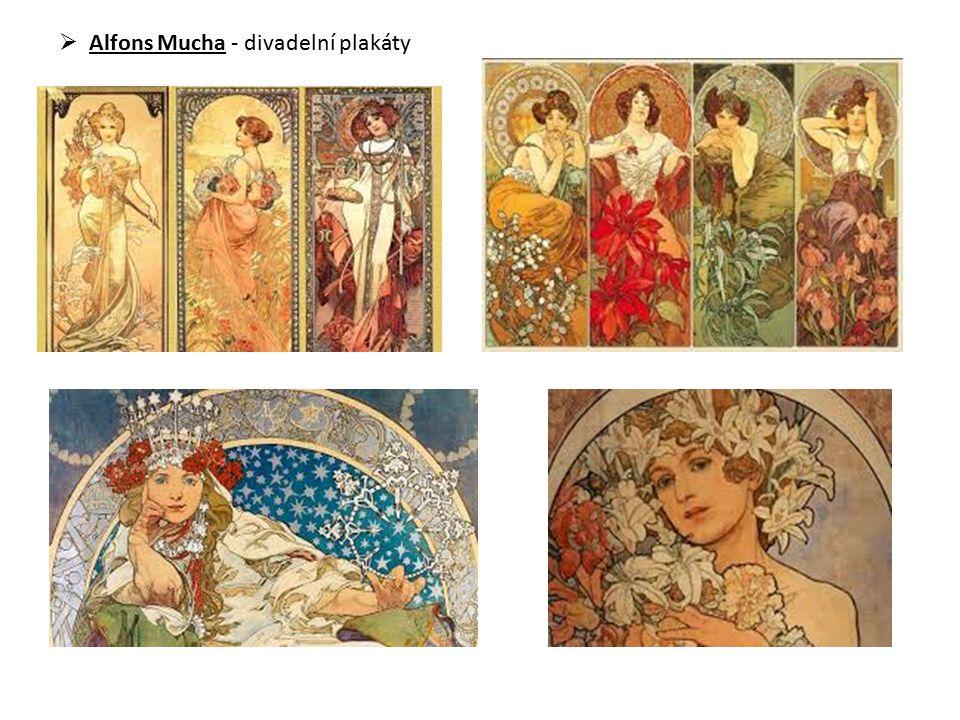  Alfons Mucha - divadelní plakáty