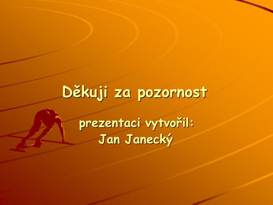 prezentaci vytvořil: Děkuji za pozornost Jan Janecký