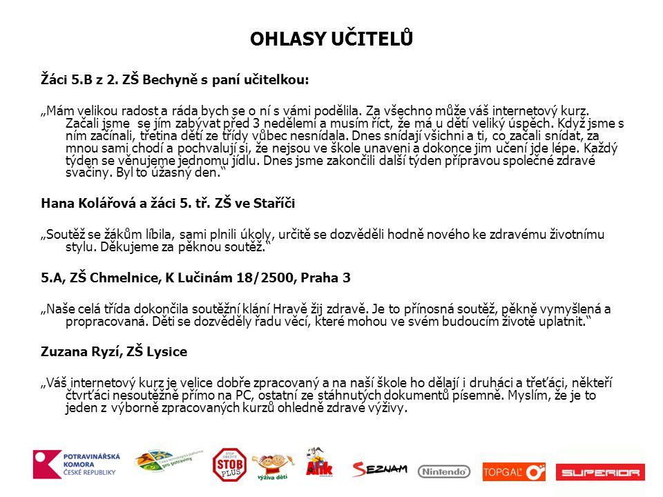 OHLASY UČITELŮ Žáci 5.B z 2.