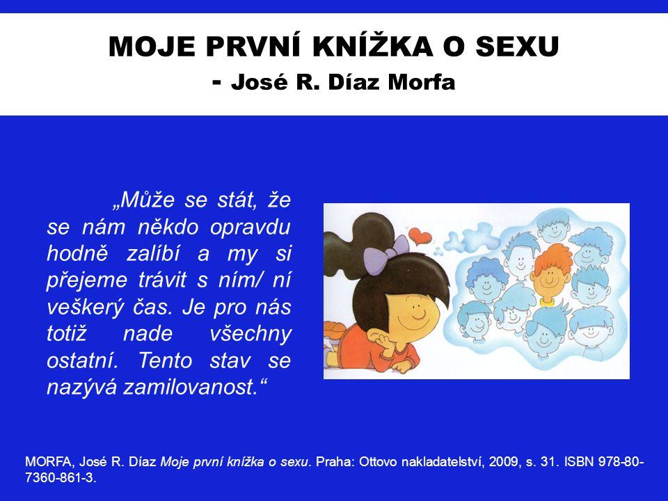 MOJE PRVNÍ KNÍŽKA O SEXU - José R. Díaz Morfa MORFA, José R. Díaz Moje první knížka o sexu. Praha: Ottovo nakladatelství, 2009, s. 31. ISBN 978-80- 73
