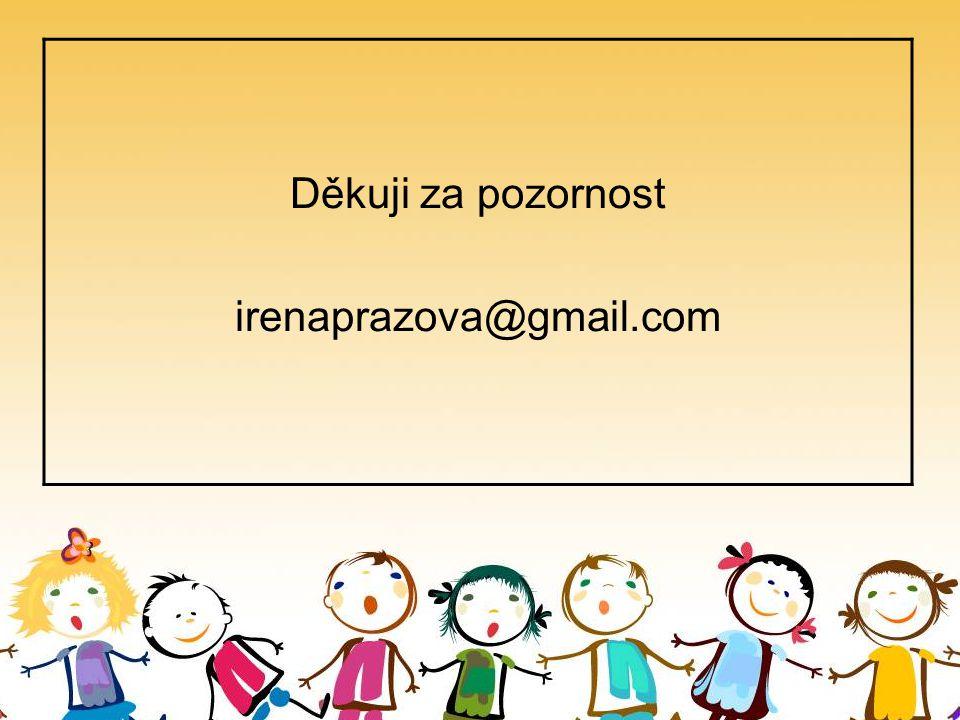 České děti jako čtenáři v roce 2014 : 6-9let Děkuji za pozornost irenaprazova@gmail.com