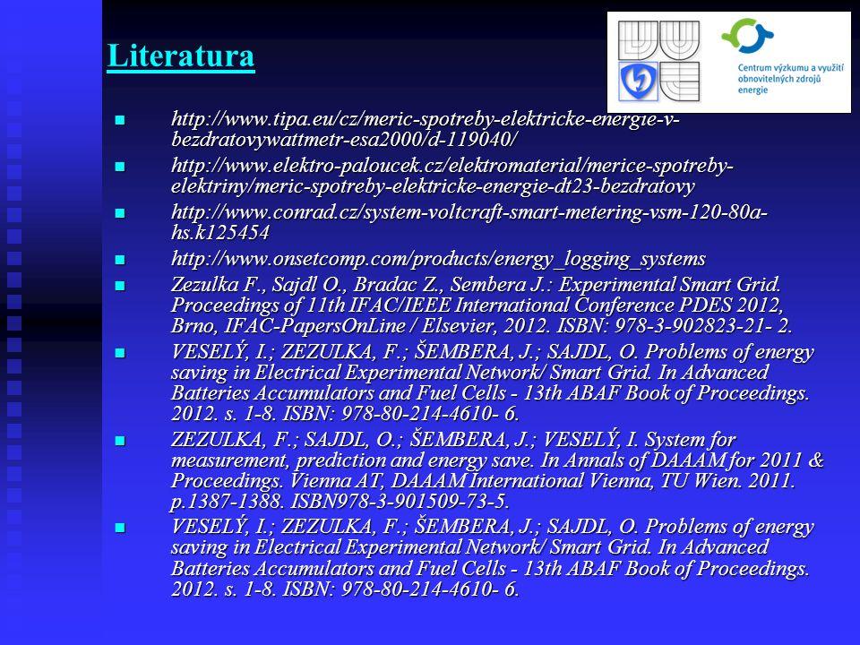 Literatura http://www.tipa.eu/cz/meric-spotreby-elektricke-energie-v- bezdratovywattmetr-esa2000/d-119040/ http://www.tipa.eu/cz/meric-spotreby-elektr