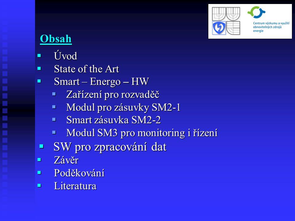  Úvod  State of the Art  Smart – Energo – HW  Zařízení pro rozvaděč  Modul pro zásuvky SM2-1  Smart zásuvka SM2-2  Modul SM3 pro monitoring i ř