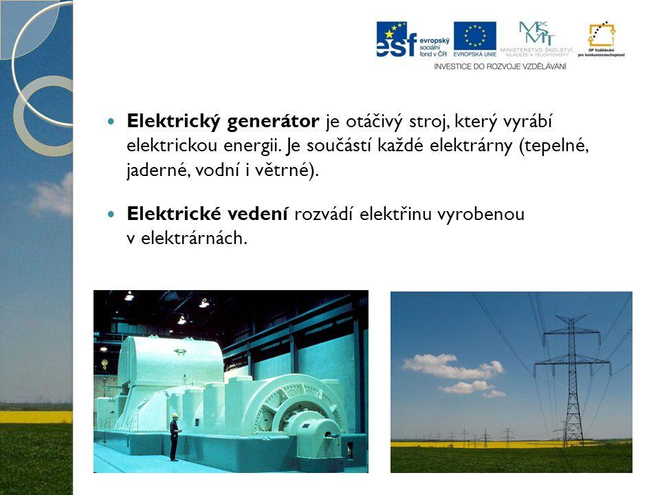 Elektrický generátor je otáčivý stroj, který vyrábí elektrickou energii. Je součástí každé elektrárny (tepelné, jaderné, vodní i větrné). Elektrické v
