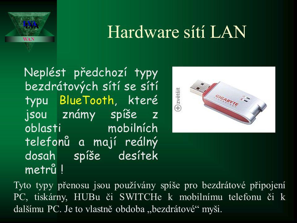 Hardware sítí LAN Velice populární jsou například produkty firmy Ovislink či Asus, které jsou rovněž cenově velice příznivé.