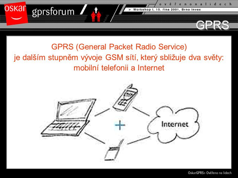 GPRS (General Packet Radio Service) je dalším stupněm vývoje GSM sítí, který sbližuje dva světy: mobilní telefonii a Internet