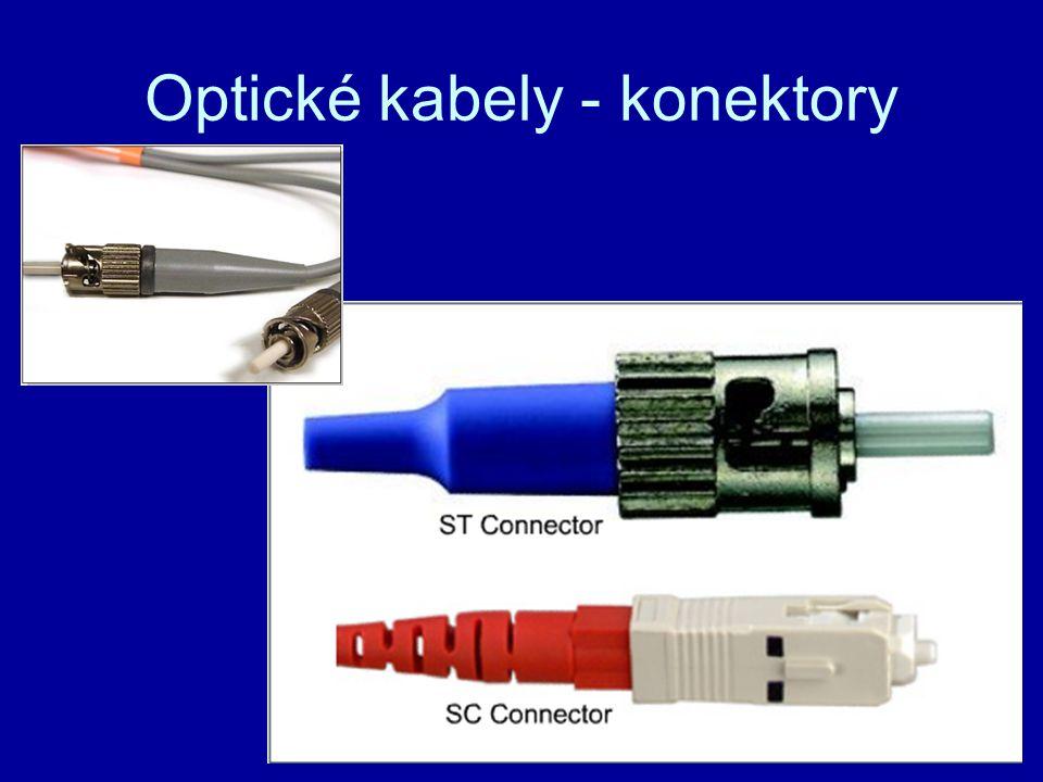Optické kabely - konektory