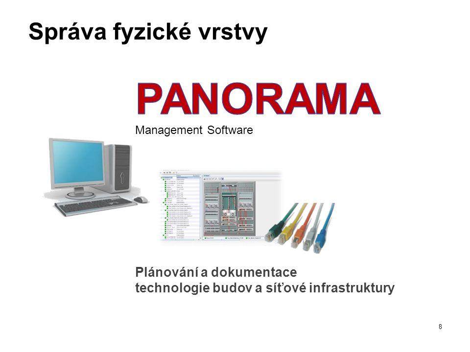 Správa fyzické vrstvy 8 Plánování a dokumentace technologie budov a síťové infrastruktury Management Software