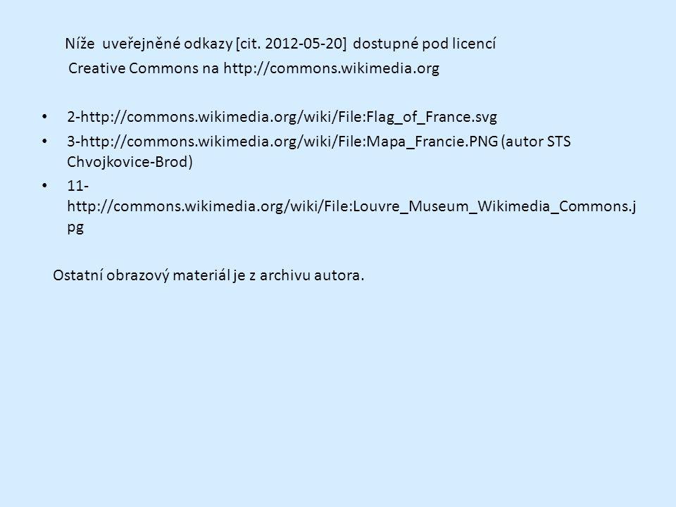 Níže uveřejněné odkazy [cit. 2012-05-20] dostupné pod licencí Creative Commons na http://commons.wikimedia.org 2-http://commons.wikimedia.org/wiki/Fil