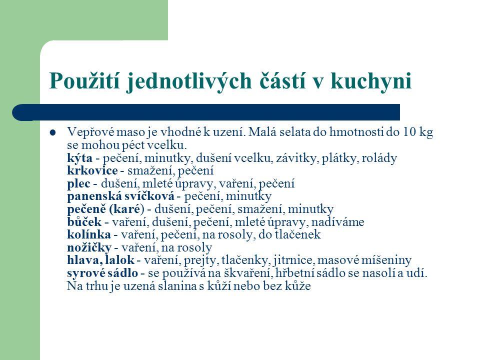 Vepřové droby Mezi vepřové droby patří: játra, ledvinky, jazyk, mozek, slezina, plíce, srdce