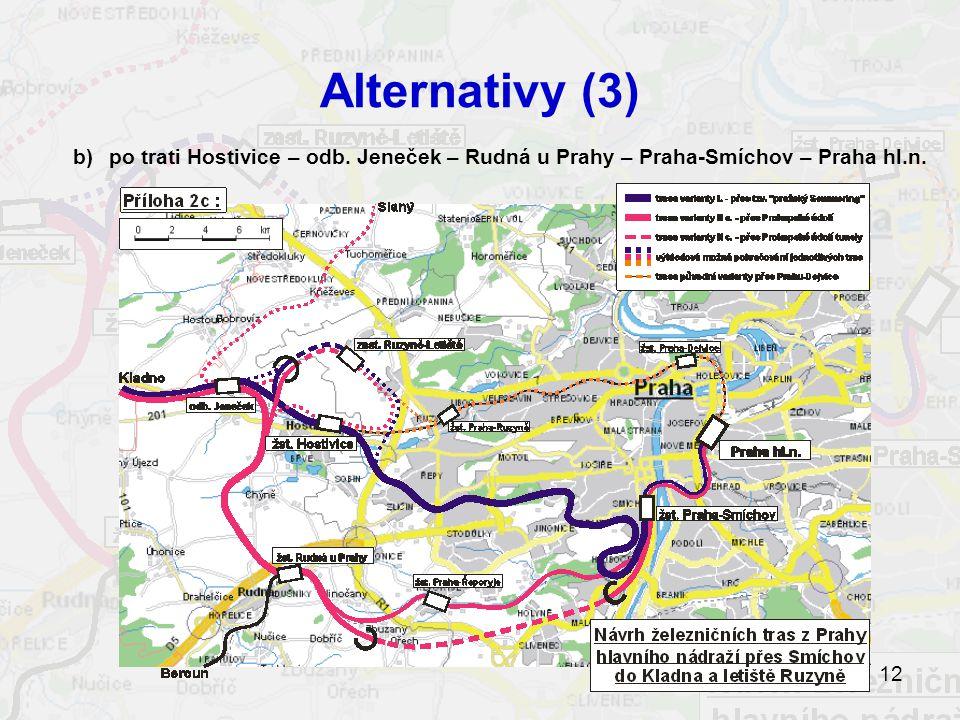 12 Alternativy (3) b)po trati Hostivice – odb.