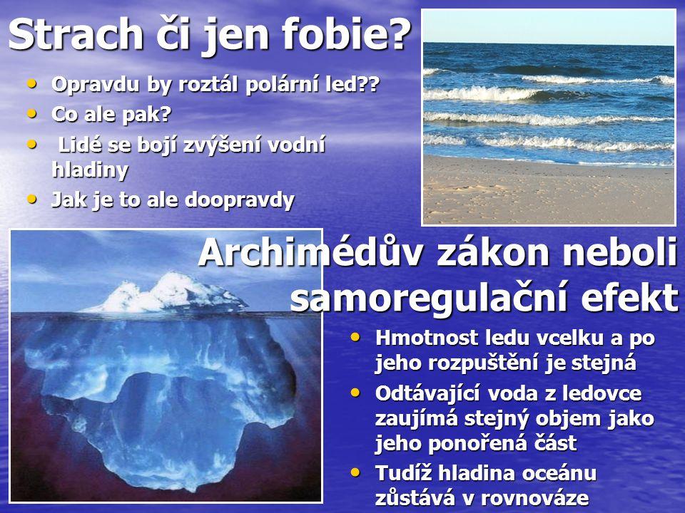 Strach či jen fobie. Opravdu by roztál polární led .