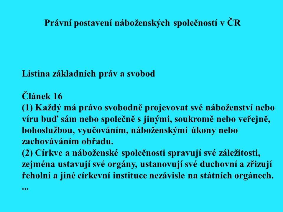 Listina základních práv a svobod Článek 16...