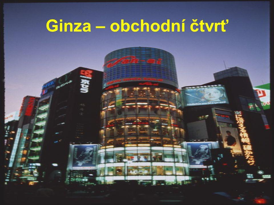 Ginza – obchodní čtvrť