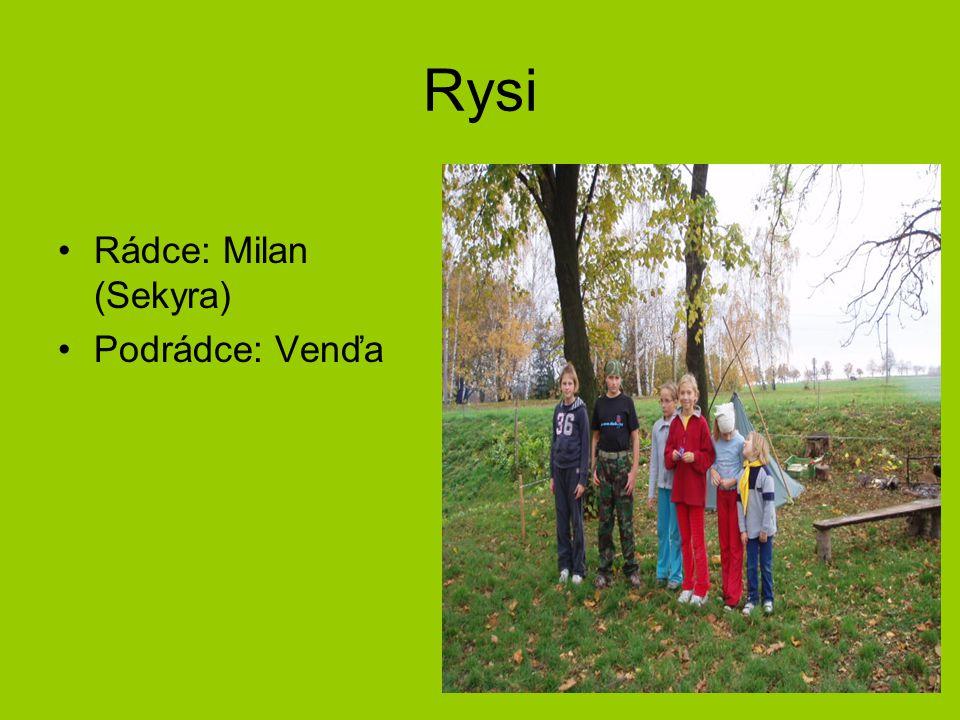 Rysi Rádce: Milan (Sekyra) Podrádce: Venďa