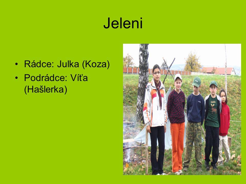 Jeleni Rádce: Julka (Koza) Podrádce: Víťa (Hašlerka)