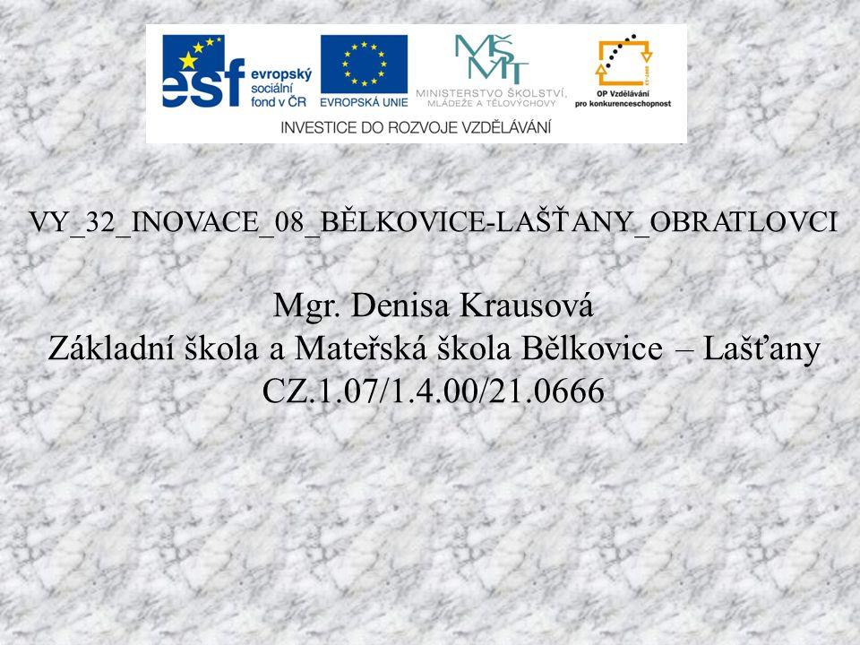 VY_32_INOVACE_08_BĚLKOVICE-LAŠŤANY_OBRATLOVCI Mgr.