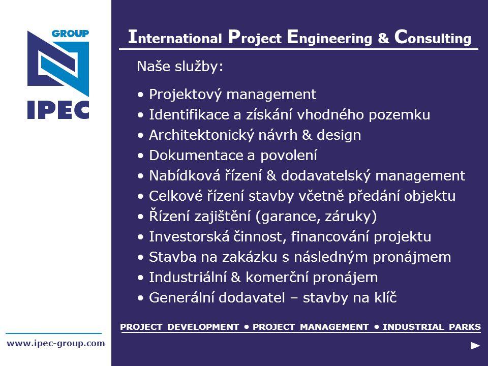 Naše služby: Projektový management Identifikace a získání vhodného pozemku Architektonický návrh & design Dokumentace a povolení Nabídková řízení & do