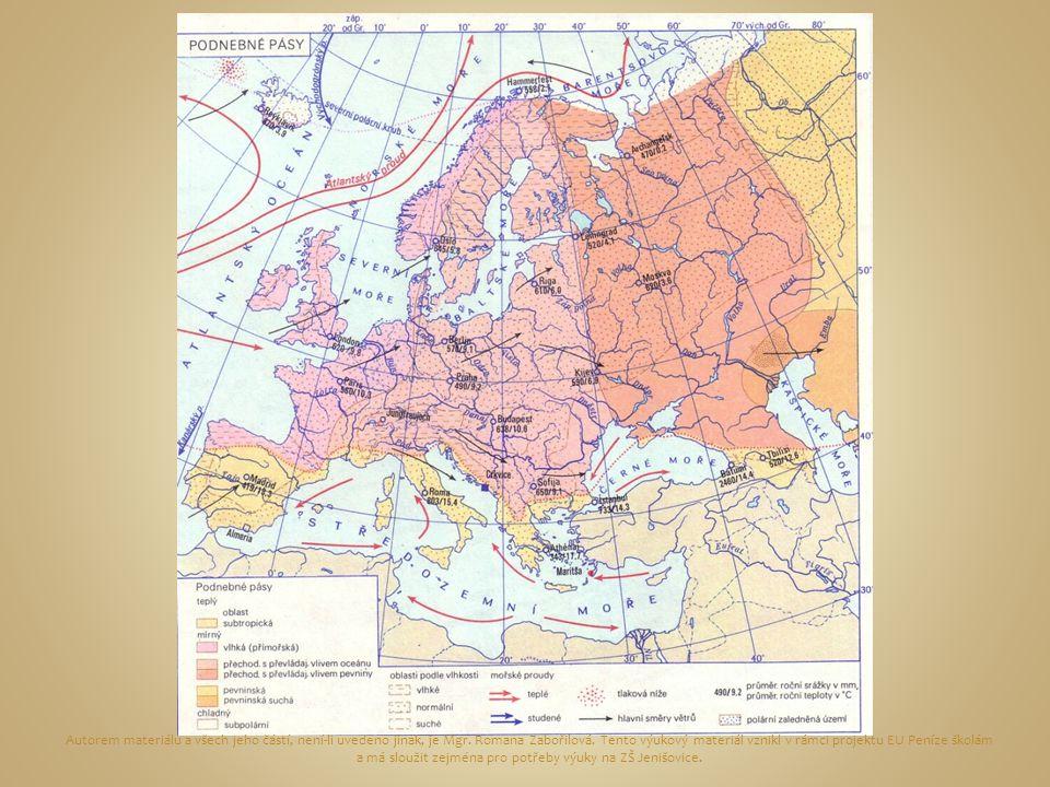  Z evropské pevniny bývá nejtepleji v létě na jihozápadě ve Španělsku (nejvyšší absolutní teplota byla naměřena v močálu u Córdoby 52 °C),  Nejchladněji je v zimě na severním pobřeží Ruska.