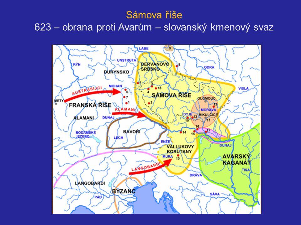 Sámova říše 623 – obrana proti Avarům – slovanský kmenový svaz svaz