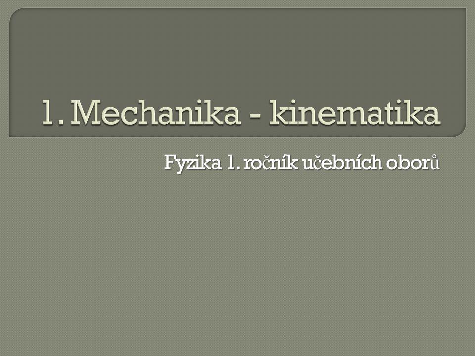  INVESTICE DO ROZVOJE VZDĚLÁVÁNÍ Projekt Modernizace výuky všeobecně vzdělávacích a odborných předmětů v SOŠ Josefa Sousedíka Vsetín prostřednictvím využití ICT je spolufinancován Evropským sociálním fondem a státním rozpočtem České republiky Mechanika-kinematika první Mgr.