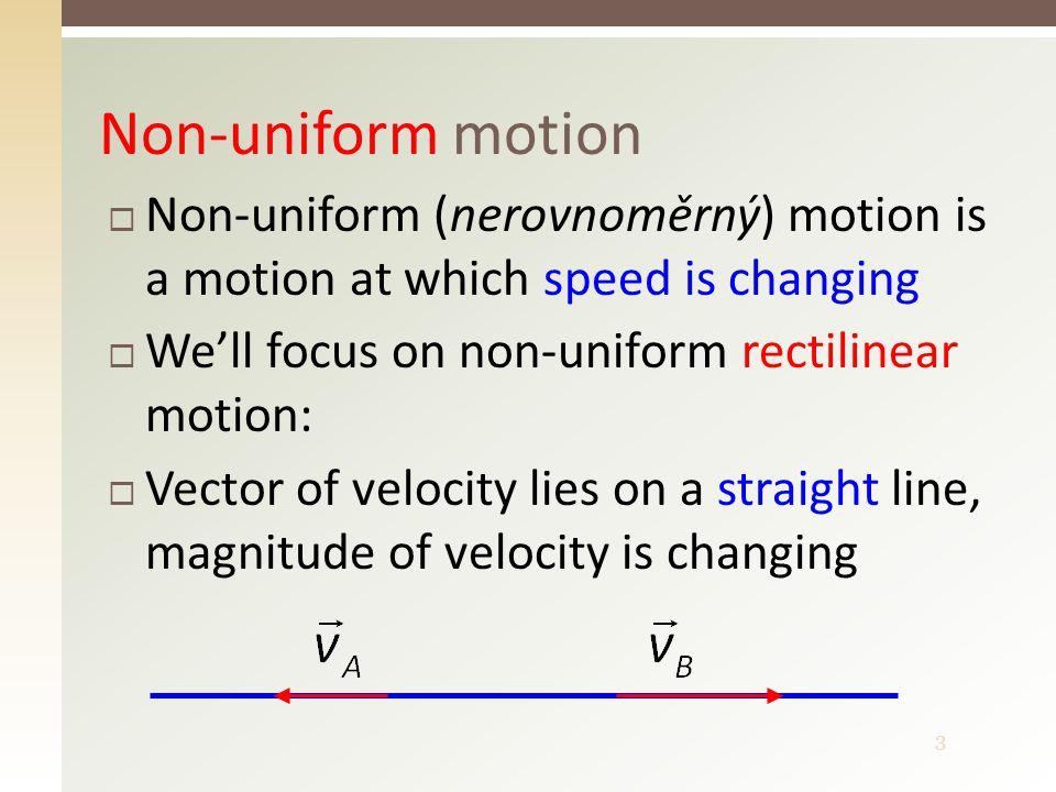 4 Non-uniform rectilinear motion