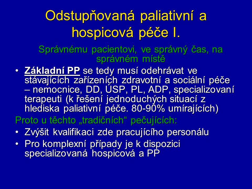 Odstupňovaná paliativní a hospicová péče I.