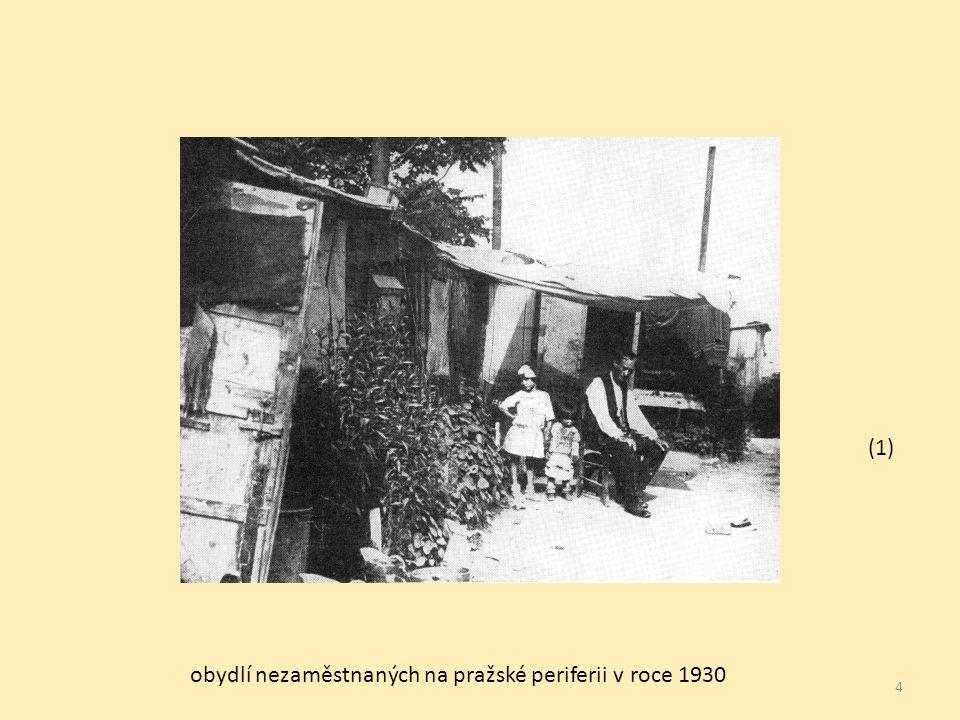 4 obydlí nezaměstnaných na pražské periferii v roce 1930 (1)