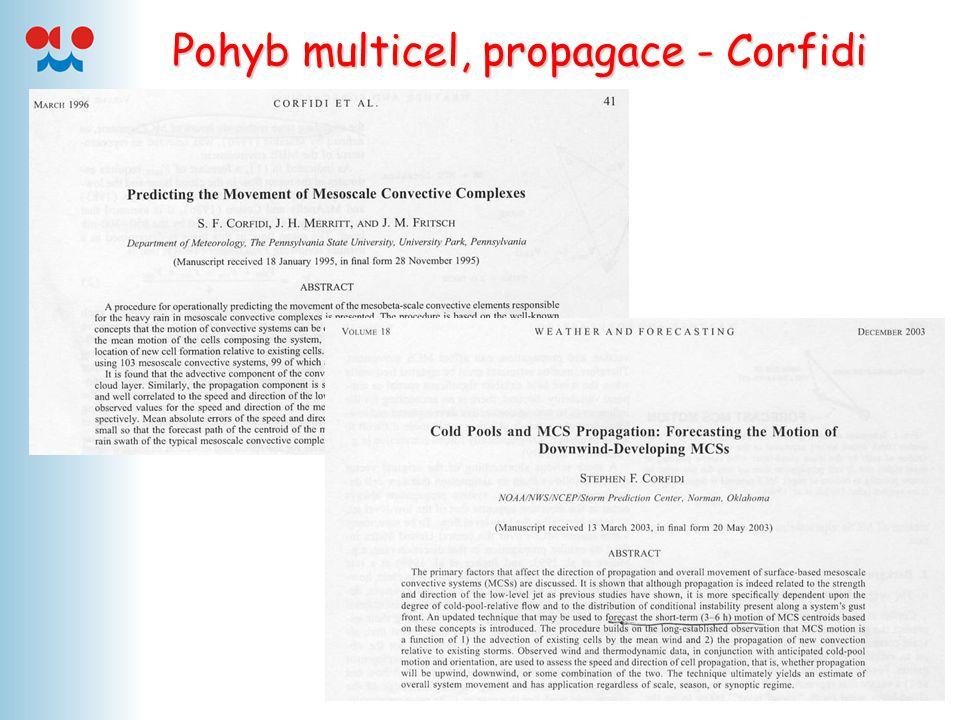Pohyb multicel, propagace - Corfidi