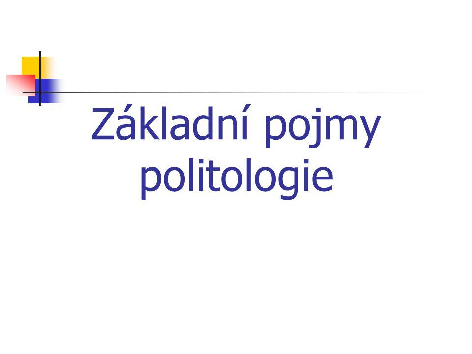 Základní pojmy politologie