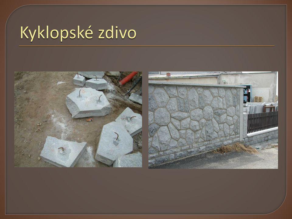 Druhy betonových tvárnic:  Tvárnice s hutným kamenivem  Tvárnice s lehkým kamenivem  Tvárnice s izolační vrstvou  Tvárnice s pórobetonu