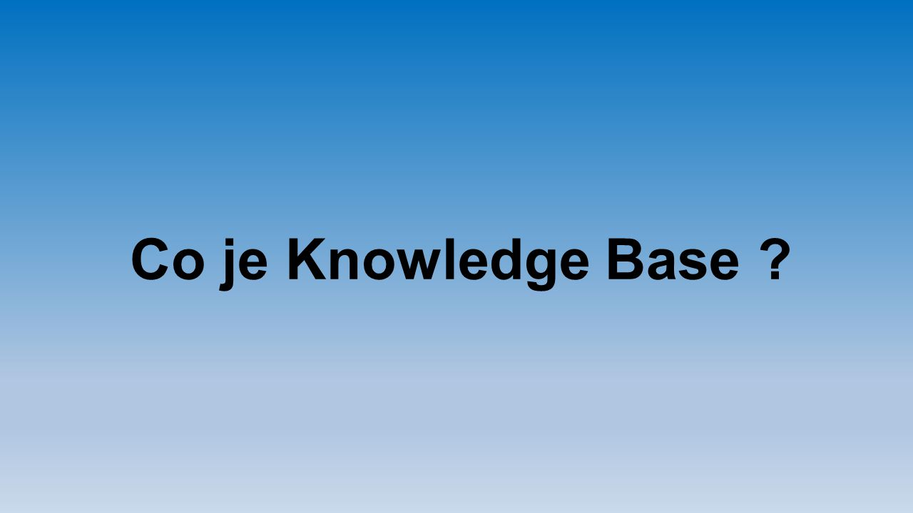 Co je Knowledge Base ?