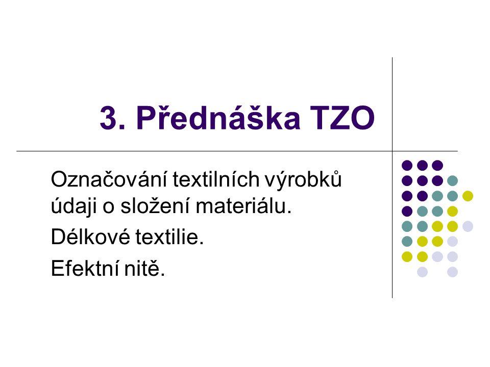 3.Přednáška TZO Označování textilních výrobků údaji o složení materiálu.