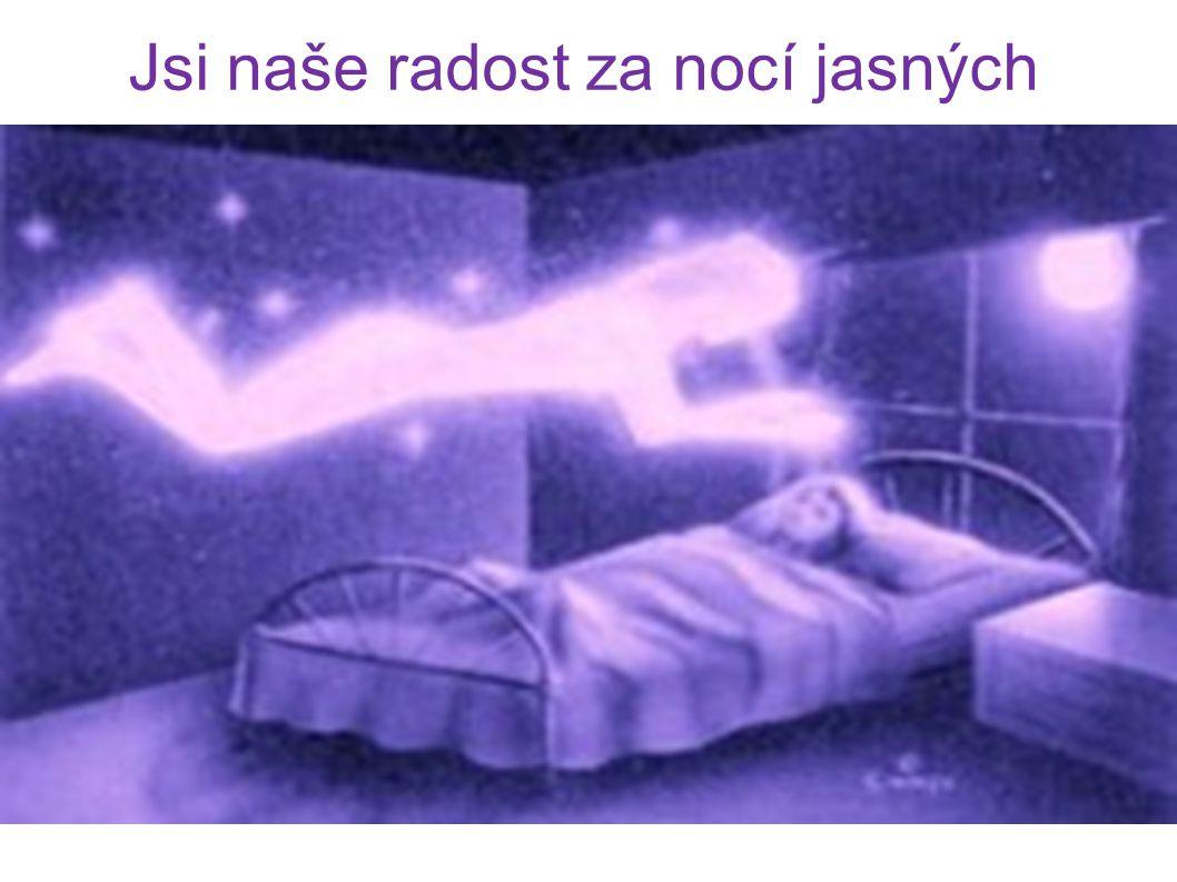 Jsi naše radost za nocí jasných